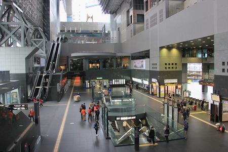 sanyo: Osaka, Japan - April 11, 2015: Shin-Osaka Station is the western terminus of the high speed Tokaido Shinkansen line from Tokyo and the eastern terminus of the Sanyo Shinkansen.