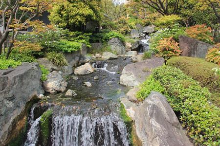 aquarium visit: Artificial Waterfall at a Japanese Style Garden