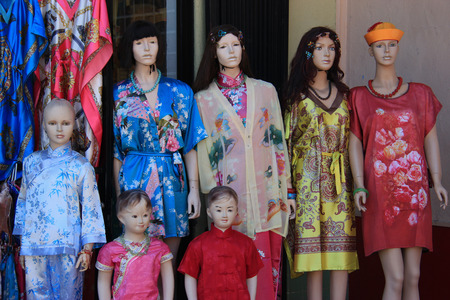 view an elegant wardrobe: Chinese Style Clothes sold at Chinatown Los Angeles