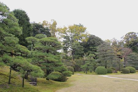 divulge: Japanese Style Garden in Kyoto Stock Photo