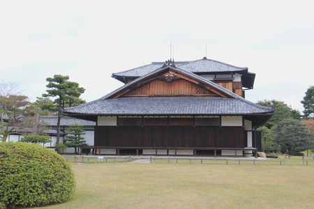 flatland: Nijo Castle, a flatland castle in Kyoto, is one of the seventeen Historic Monuments of Ancient Kyoto designated by UNESCO as a World Heritage Site.
