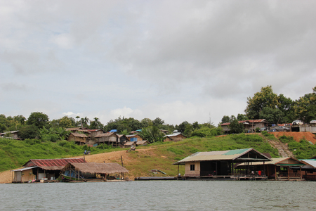 closer: Raft House is a popular local accommodation for tourists who want to be closer to nature in Sangkhlaburi.