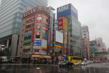 postwar: Tokyo, Japan - April 13, 2015: Akihabara is a district in central Tokyo famous for its many electronics shops and the post-war black market.