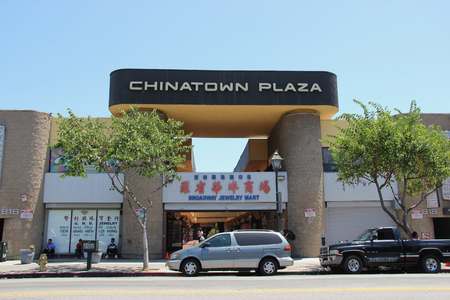 mart: Los Angeles, California, USA - August 14, 2015: Chinatown Plaza is a jewelry mart on Broadway street, a part of the largest jewelry district in the United States.