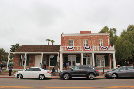 accuser: San Diego, California, USA - May 25, 2015: The Whaley House, called the most haunted house in America by LIFE magazine, was San Diegos second county courthouse and the first commercial theater in San Diego.