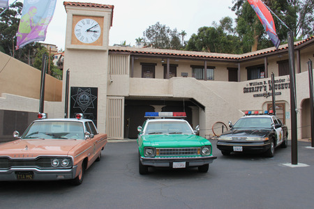 San Diego, California, USA - May 25, 2015: The Sheriffs Museum consists of 6800 square feet of exhibit space covering the entire history of the San Diego County Sheriffs Department from its inception in 1850 through today.