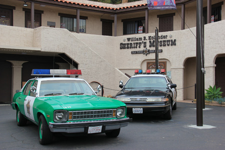 sheriffs: San Diego, California, USA - May 25, 2015: The Sheriffs Museum consists of 6800 square feet of exhibit space covering the entire history of the San Diego County Sheriffs Department from its inception in 1850 through today.
