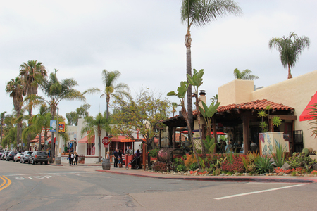 cuisine entertainment: San Diego, California, USA - May 25, 2015: Old Town San Diego is the oldest settled area in San Diego and is the site of the first European settlement in present-day California.