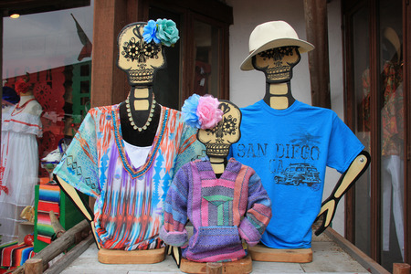 San Diego, California, USA - May 25, 2015: Merchandise sold at Old Town San Diego are decorated in ghost theme as it is famous for haunted house and ghost stories. Editoriali