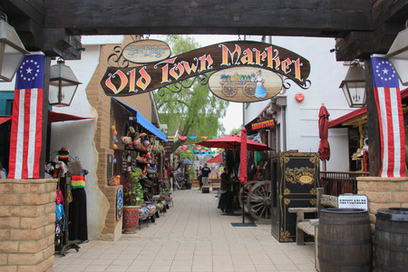 San Diego, California, USA - May 25, 2015: Old Town San Diego is the oldest settled area in San Diego and is the site of the first European settlement in present-day California.