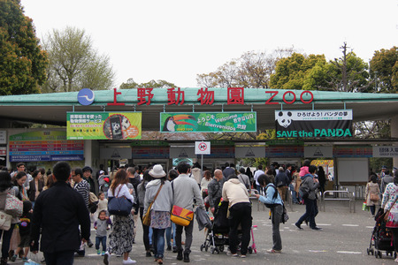 Tokyo, Japan - April 12, 2015: Ueno Zoo is Japan's oldest zoo located in Ueno Park in central Tokyo.