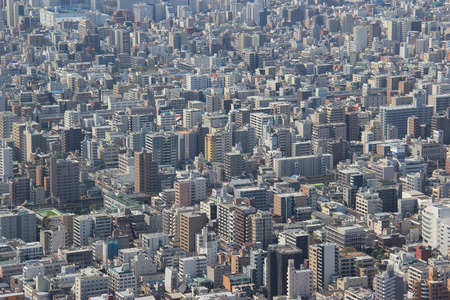 Tokyo, Japan - April 12, 2015: Tokyo is the capital and largest city of Japan. The Greater Tokyo Area is the most populous metropolitan area in the world. Editorial