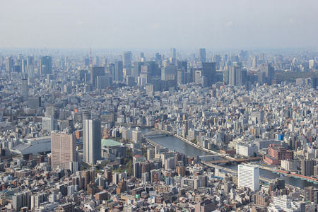 populous: Tokyo, Japan - April 12, 2015: Tokyo is the capital and largest city of Japan. The Greater Tokyo Area is the most populous metropolitan area in the world. Editorial