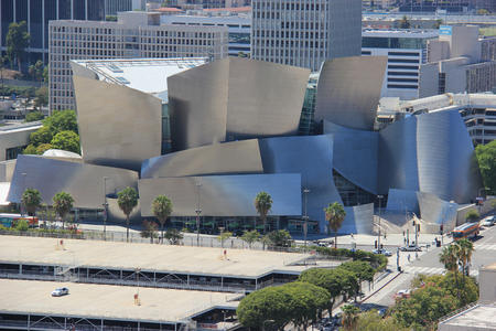 Los Angeles, California, USA - August 14, 2015: The Walt Disney Concert Hall, the fourth hall of the Los Angeles Music Center, serves as home of the Los Angeles Philharmonic orchestra and the Los Angeles Master Chorale.