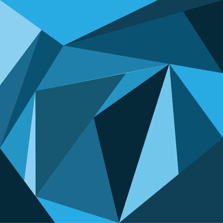 Illustration of blue tone Polygonal abstract background, texture, wallpaper Ilustración de vector
