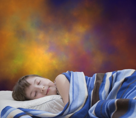 sleeping girl: Sleeping girl on abstract background
