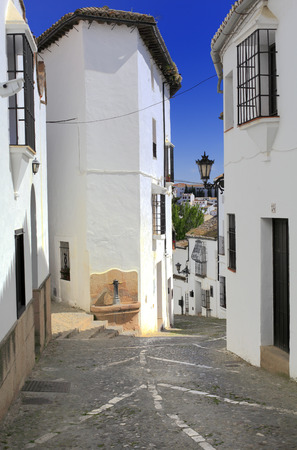 andalusia: Street in old town, Ronda, Andalusia, Spain
