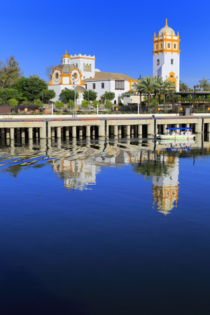 andalusia: Guadalquivir river, Seville, Andalusia, Spain Stock Photo