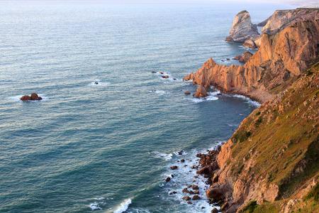 roca: Sunset from cape Cabo da Roca, Portugal