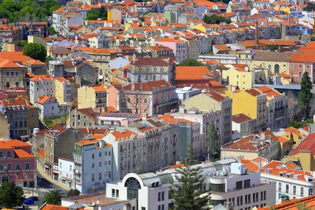 jorge: Cityscape from castle of Sao Jorge Castelo de Sao Jorge, Lisbon, Portugal