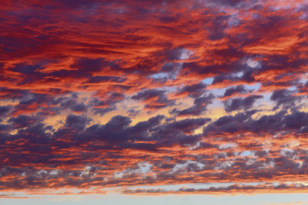space background: Clouds on sunset sky, background