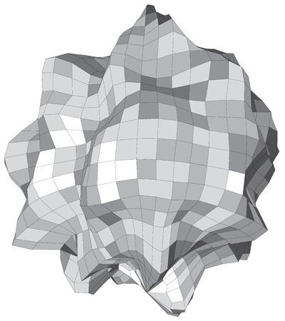 asteroid: Abstract vector sphere looks like stone asteroid Illustration