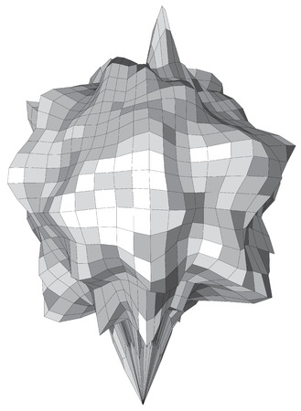 sin: Abstract vector sphere looks like stone asteroid Illustration