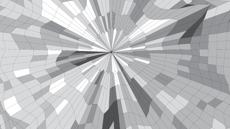 distortion: Abstract vector wireframe 3d surface mesh distortion Illustration