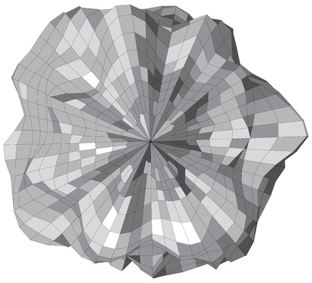 asteroid: Abstract wireframe sphere looks like stone asteroid