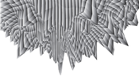 Abstract wireframe gradient gray sphere wave object