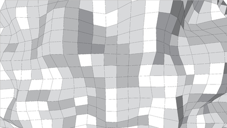 mesh: Abstract distorted gray surface mesh scientific background