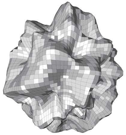 asteroid: Abstract 3d sphere looks like stone asteroid