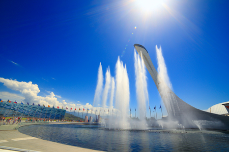 olympics: SOCHI, ADLER, RUSSIA - MAY 27, 2015: Olympic Park Sochi, Adler, Krasnodar Krai - venue for the 2014 winter Olympics Editorial
