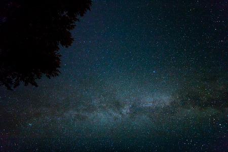 milky way: Night starry sky scene with milky way