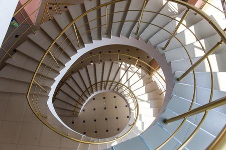 Spiral staircase interior floor house urban background