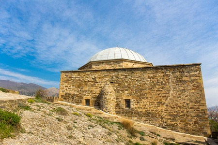 sudak: View of mosque in Genoese medieval fortress in Sudak, Crimea, Russia Stock Photo