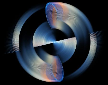 Computer teruggegeven 3d abstracte fractal illustratieachtergrond voor creatief ontwerp