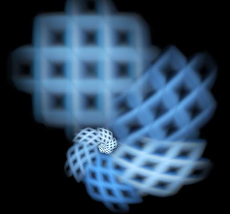 컴퓨터 크리 에이 티브 디자인에 대 한 3D 추상 프랙탈 그림 렌더링