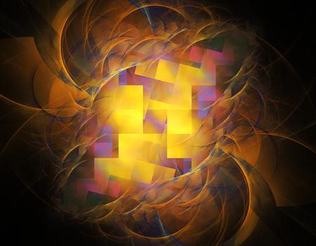 컴퓨터 렌더링 3D 추상 프랙탈 그림 배경 크리 에이 티브 디자인 스톡 콘텐츠 - 46059933