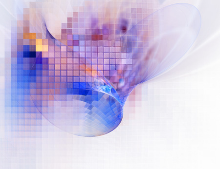 창조적 인 디자인을위한 컴퓨터 렌더링 된 3D 추상 프랙탈 그림 배경 스톡 콘텐츠