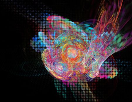 Computer rendered 3d abstract fractal illustration background for creative design 스톡 콘텐츠