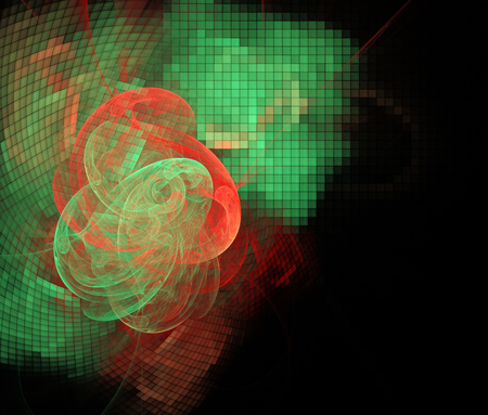 Computer rendered abstract fractal illustration background for creative design 스톡 콘텐츠
