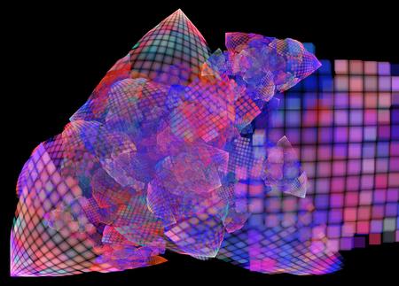 크리 에이 티브 디자인을위한 컴퓨터 추상 프랙탈 그림 배경 렌더링 스톡 콘텐츠