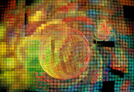 크리 에이 티브 디자인을위한 컴퓨터 추상 프랙탈 배경 렌더링 스톡 콘텐츠