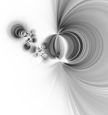 gray matter: Computer rendered 3d abstract fractal illustration background for creative design Stock Photo