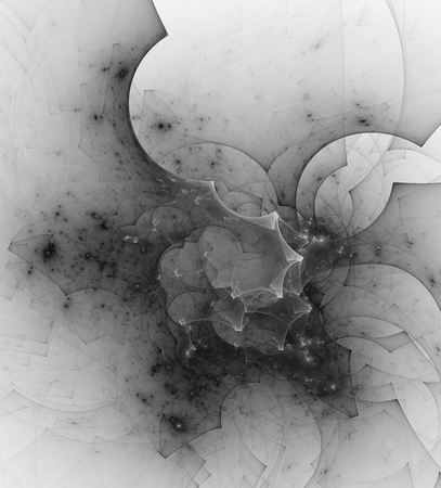 gray matter: Computer rendered abstract fractal illustration background for creative design Stock Photo