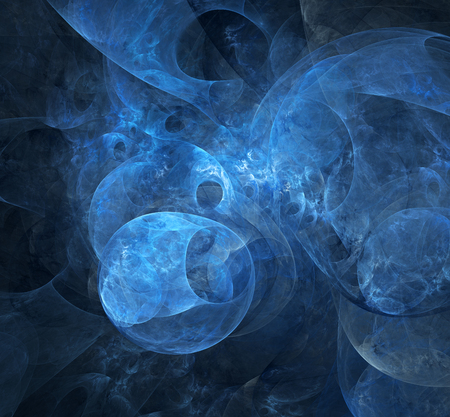 astrophysics: Computer rendered abstract fractal illustration background for creative design Stock Photo