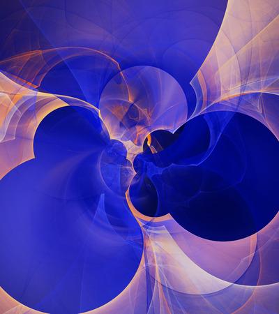 Computer rendered abstract fractal illustration background for creative design Standard-Bild