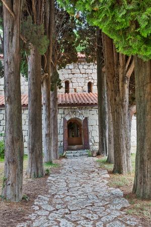 paved: Paved road to Abaata church Gagra Abkhazia Georgia