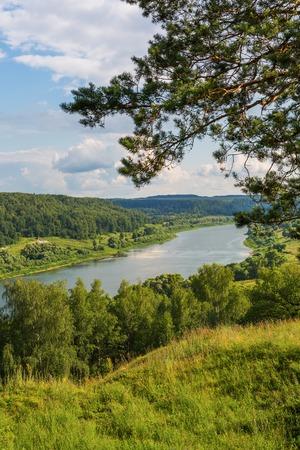 oka: View to Oka river Aleksin Tula region Russia